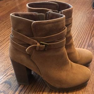 Shoes - Brown suede booties